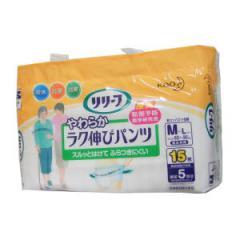 リリーフ抗菌消臭 やわらかラク伸びパンツ M-Lサイズ 15枚入